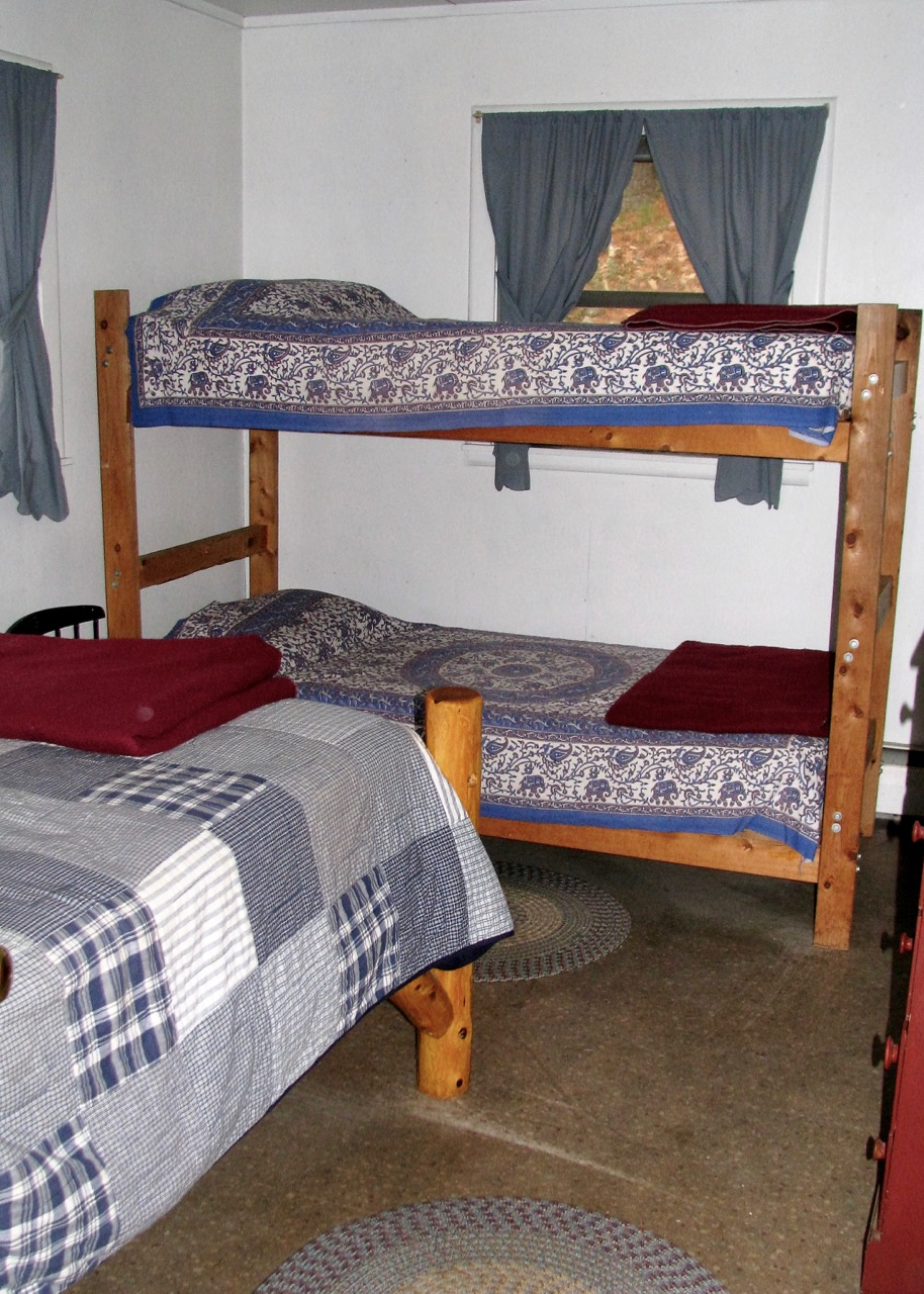 Master bedroom in the North Housekeeping Lodge