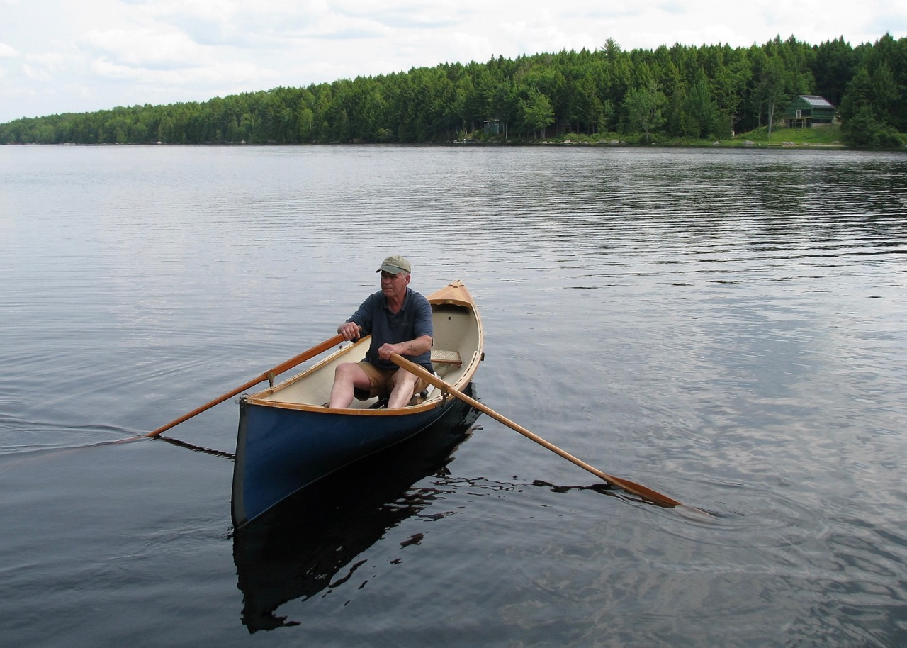 Barry Tyne canoeing on Nicatous Lake