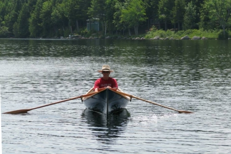 Uncle Andy canoeing on Nicatous Lake
