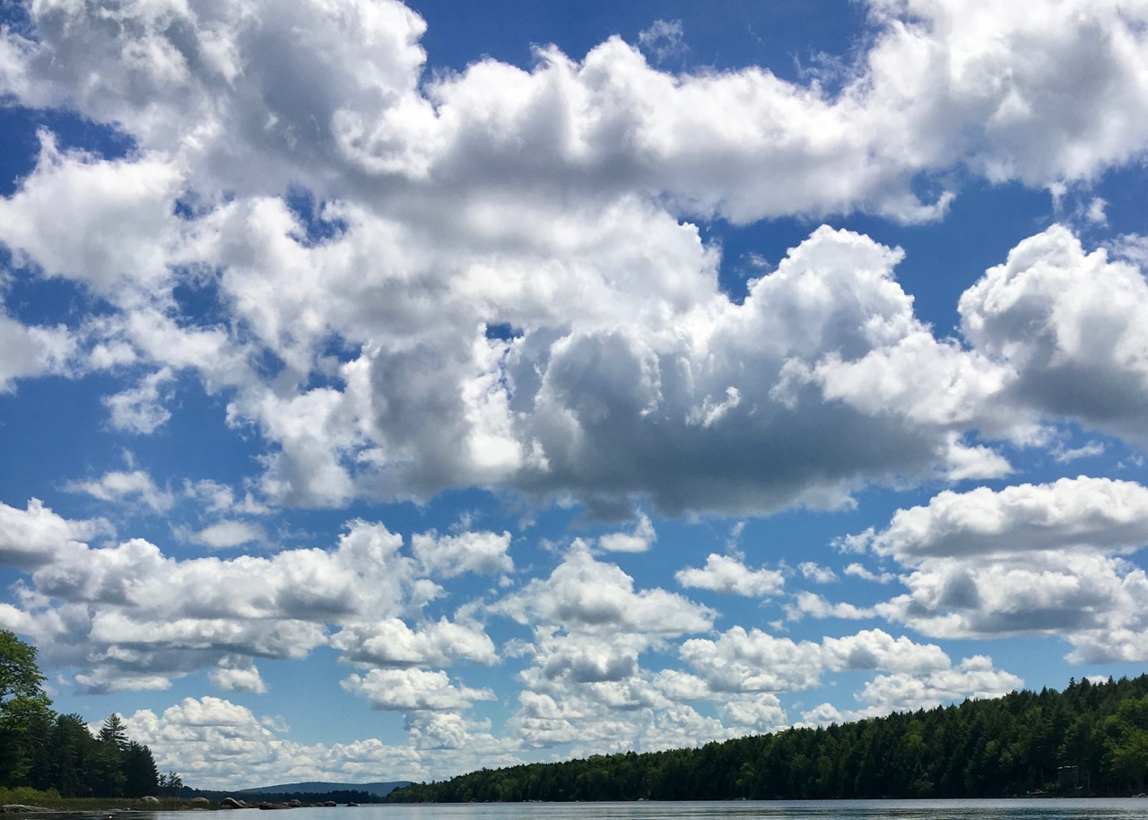 Clouds over Nicatous Lake