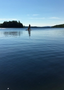 Paddle boarding at Porter Point Camps