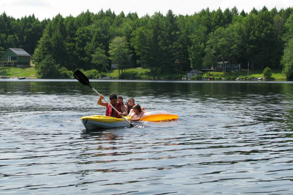 Kayaking on Nicatous Lake