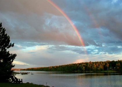 Rainbow over Nicatous Lake