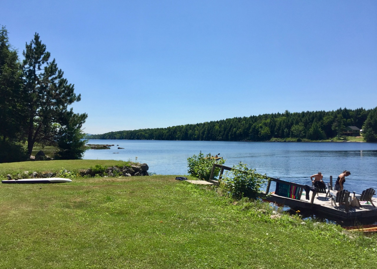Swim, sunbathe, or just relax at Porter Point Camps